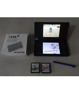 FULLY TESTED Original Nintendo DSi Black Handheld System W/ Charger & 3 ... - $47.51