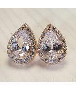 Ravishing Gold Plated Water Drop Stud Earrings  - $9.50