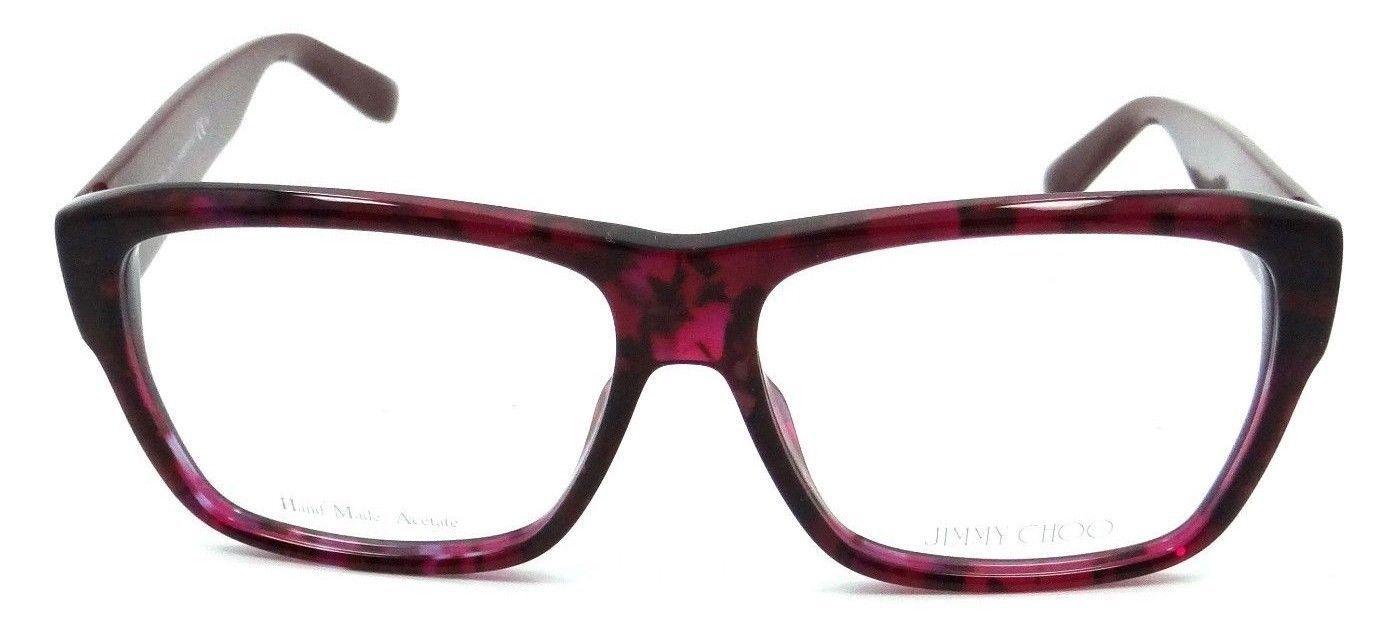 5f6a1a48ac Jimmy Choo Rx Eyeglasses Frames JC 116 W11 56-14-140 Burgundy Spotted Italy