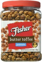 Fisher Butter Toffee Peanuts - 42 Oz. Cannister - $18.99