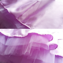 Purple Tulle Tutu Skirt High Waisted 4-Layered Tulle Skirt Ballet Skirt image 7