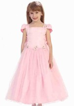 Chic Baby Blush Pink Tea Length Pageant Party Holiday Dress, 2, 4, 6 USA - $56.99