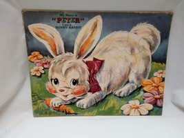 """1940s My Name is Peter I am a Bunny Rabbit Prize Art Puzzle 200-P:88 14""""... - $19.20"""