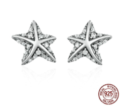 Hot Sale 100% 925 Sterling Silver Star Tropical Starfish Stud - $23.99