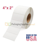 """96 Rolls 4"""" X 2"""" Thermal Transfer Shipping Labels 3 Inch Core 276000 Labels - $1,080.67"""