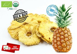 100% organic pure dried/dehydrated pineapple fruit slices/rings Ceylon f... - $5.71+