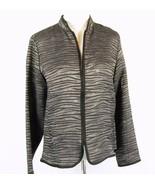 COLDWATER CREEK Size S 6 8 Lightweight Silky Burnout Zipper Jacket - $14.99