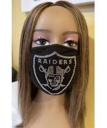 Oakland Raiders  Las Vegas Raiders NFL Bling Logo Face Mask Washable - £11.65 GBP