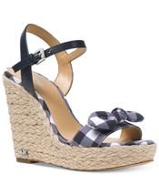 MICHAEL Michael Kors Pippa Gingham Espadrille Wedge Sandals Mult Sz - $74.99