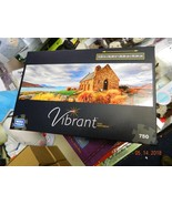 Used complete exc 750 piece Puzzle Vibrant Mega Puzzles Panoramic Free SHIP - $9.92