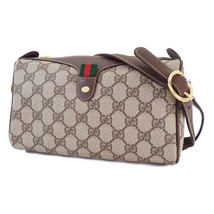 Old Gucci shoulder bag Sherry GG Brown vintage TK186 - $552.77