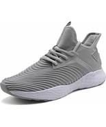 Weweya Running Shoes Men Athletic Gym Casual Walking Shoes Light Grey 7.... - $27.91