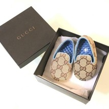GUCCI Authentic GG Logo Baby First Shoes 16 Japanese 8.5cm New Unused - $179.99