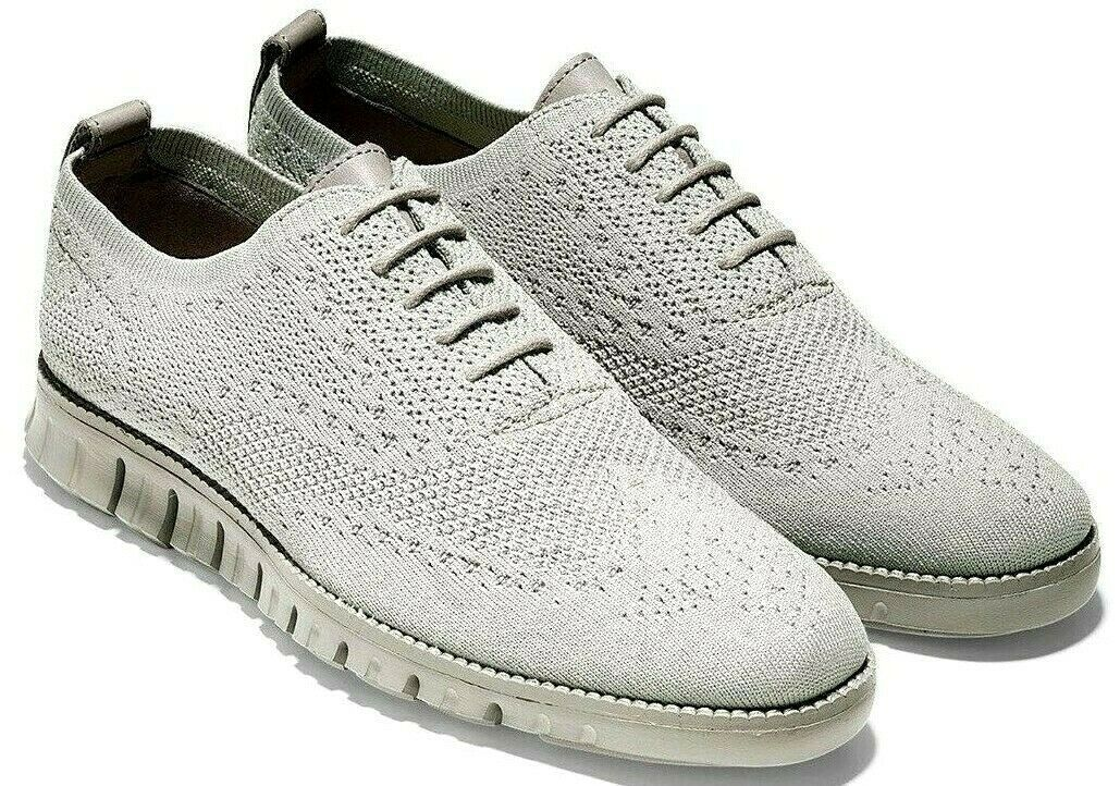 COLE HAAN ZEROGRAND WINGTIP OXFORD WITH STITCHLITE GREY SIZE 8 NEW (C26252)