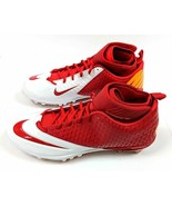 Nike Lunar Superbad Pro TD Football Cleats Red White Gold Men 15 NEW FRE... - $13.97