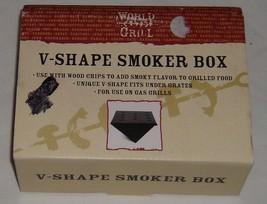Gas Grill Smoker Box V Shaped Black Metal World Market 24293242 Smoky Fl... - £13.35 GBP