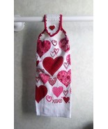 Valentine Hearts Hanging Towel - $3.25