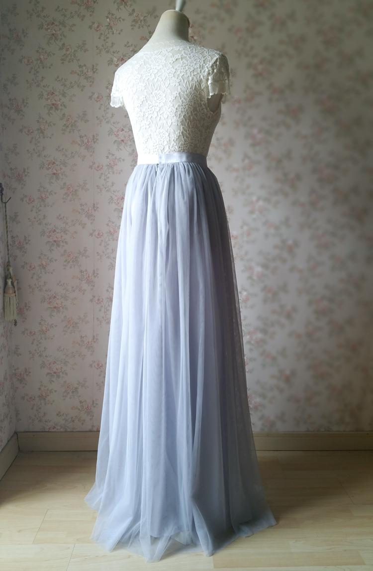 Gray tulle skirt bridesmaid skirt 10