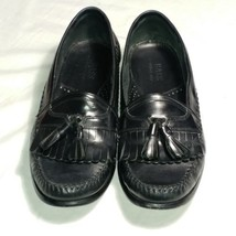 Bass Loafers Lowell Size 10M Black Leather Excellent Condition - $14.39