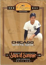 2005 donruss chicago white soxs luis aparicio serial # 364/1000 - $2.50