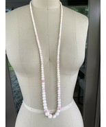 """14K GOLD 6.35- 12mm ANGEL SKIN CORAL BEAD CORAL NECKLACE 42""""/ 92.3g - $864.50"""