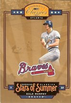 2005 donruss atlanta braves dale murphy serial # 68/1000 - $2.50