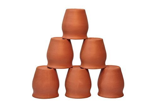 Clay Glass kullad / khullad (Pack of 6) Special Offer tea coffee cup Indian trad