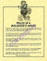 Rules In A Molosser's House - $20.50