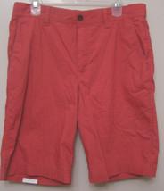 IZOD Seaport Poplin Red Saltwater Flat Front Casual Chino Shorts 42 Regular - $24.95