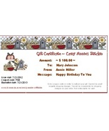 $100 Gift Certificate gift card Crazy Annie's Stitchin - $100.00