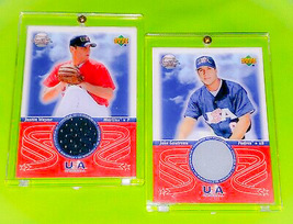 MLB JUSTIN WAYNE JAKE GAUTREAU 2002 U.D. USA BASEBALL GAME USED JERSEY C... - $2.50