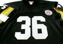 JEROME BETTIS / AUTOGRAPHED PITTSBURGH STEELERS THROWBACK JERSEY / BUS HOLO image 2