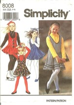 Simplicity 8008 Girls' Jumper, Jumpsuit, Top & Headband Pattern AA 7-10 ... - $8.47