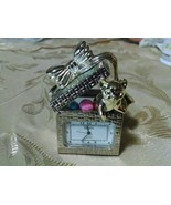 Miniature Clock Elgin Cat in Gift Box - $19.97