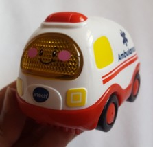 USED Toy Vtech Ambulance Gift Kids learning Play 1197 sounds work hard plastic - $12.43