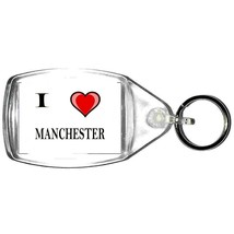keyring double sided i heart manchester, keychain i (love) manchester