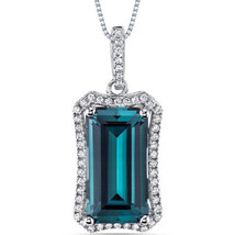 Women's Sterling Silver Vintage Emerald Cut Alexandrite Pendant Necklace - $169.99