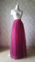 Full Tulle Maxi Skirt Plus Size Floor Long Tulle Skirt Wedding Guest Maxi Skirts image 2