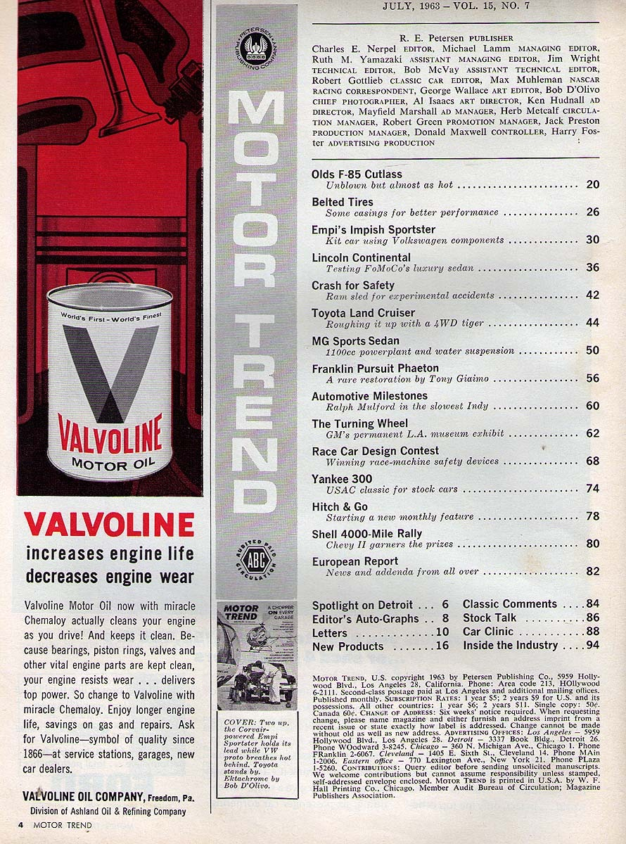 Motor Trend - July 1963 - Off-Trail KIT Cars