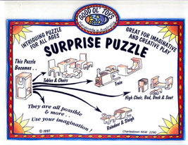 Good Ol Toys Australia Handcrafted Wood Surprise Puzzle Furniture Train ... - $12.00