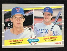 1989 Fleer #641 Kevin Brown / Kevin Reimer MLP, RC Rangers Rookie Card - $1.24