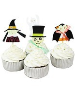Betop House 24 Pieces Halloween Party Cupcake Topper Cake Picks - £11.44 GBP