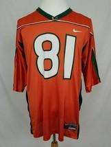 NIKE Miami Hurricanes Mens L Kellen Winslow Jr Football Jersey Orange #8... - $34.99
