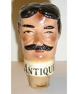 Vintage Figural Man's Head Cork Bottle Stopper - $8.99