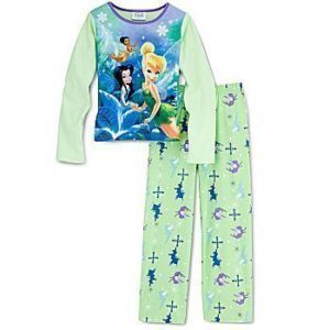 Tinker Bell Lost Treasure Fairies Pajama Set Girl SZ 10
