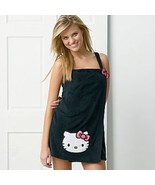 Juniors Hello Kitty Applique Shower Wrap Size Large Pink NEW Pink Cute  - $18.00