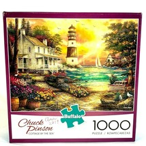 Chuck Pinson Cottage by the Sea Jigsaw Puzzle 1000 Piece Buffalo Games - $19.39