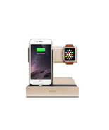 iPhone and iWatch Angled Charging Dock for Lighting Port Apple (Gold) - $39.59