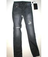 New Womens True Religion Brand Jeans Cora Metal Studs Destroyed Black NWT USA 24 - $480.00