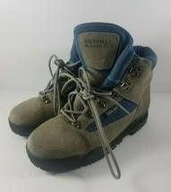 Merrell Blazer GTX Blue & Gray Leather & Gore-Tex Hiking Boots Women's USA 8 - $49.99
